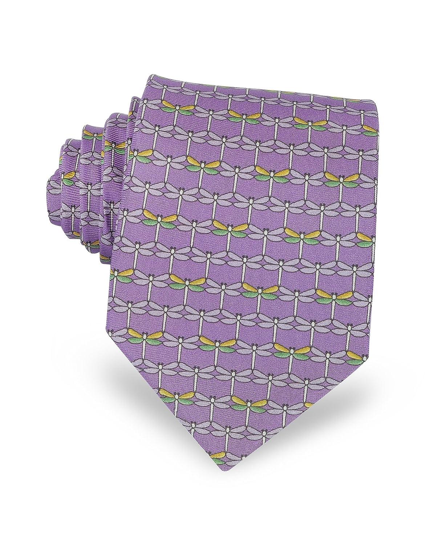 Laura Biagiotti Mens A641511007 Purple Silk Tie
