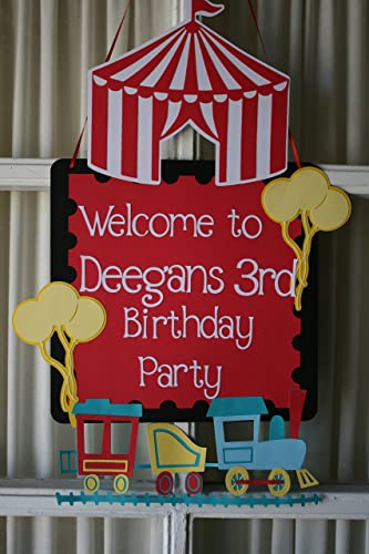 amazon com circus carnival themed birthday door sign handmade