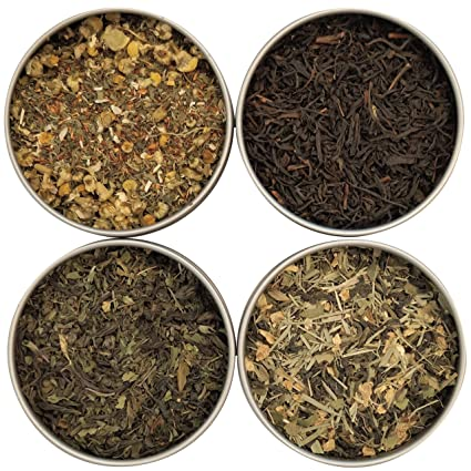 Tea Leaves Exotic Tea Sampler 4 Count Heavenly Tea Leaves
