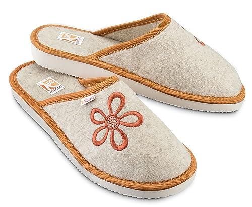 472b6cb920cd24 Bosaco Pantofole Ciabatte Donna Casa Pantofola Ciabatta Vera Feltro ...