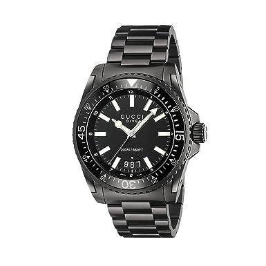 3883bb374fb Amazon.com  Gucci Men s Dive Watch Quartz Sapphire Crystal YA136205 ...