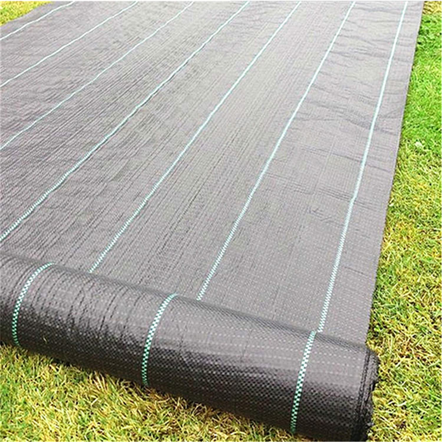 GRASSCLUB Weed Barrier Control Woven Garden Weed Landscape Fabric Heavy Duty Ground Cover 6.5ft x 32ft (208 Sq ft)