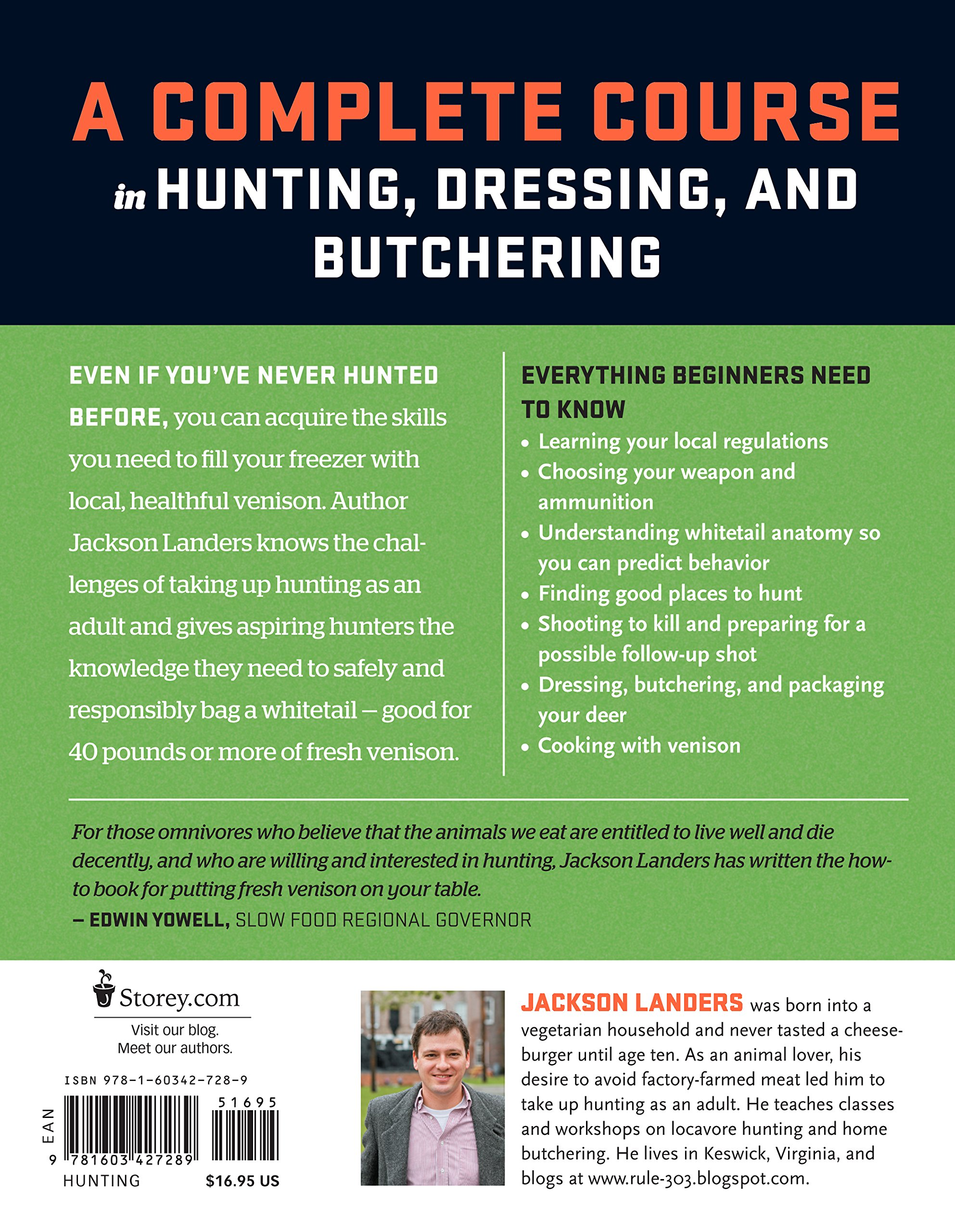 The Beginner's Guide to Hunting Deer for Food (Beginner's Guide To...  (Storey)): Jackson Landers: 9781603427289: Amazon.com: Books