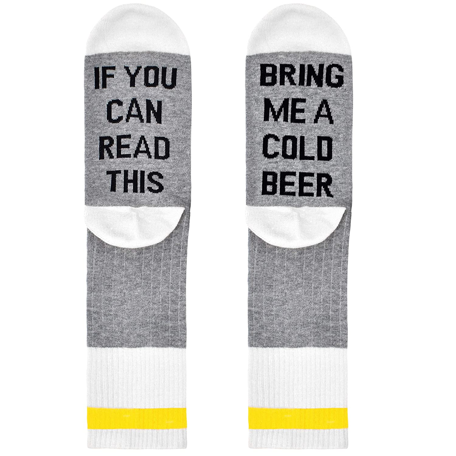 Birthdays Gift Box If You can Read This Bring me a Cold Beer for Beer Lovers White Elephant Mother or Father Gift Comfort Cotton Socks Husband or Best Friend Beer Socks