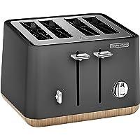 Morphy Richards 240006 4 Slice Toaster Aspect Titanium Wood Black / Wood