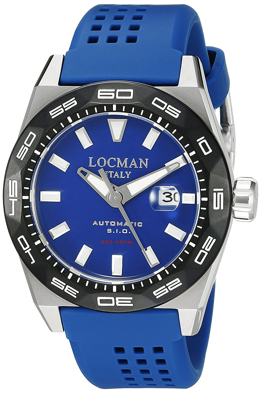 Locman Italy Men s 0215V3-0KBLNKS2B Stealth 300 Metri Analog Display Automatic Self Wind Blue Watch