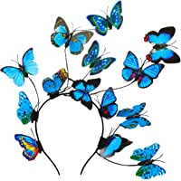 Coucoland Butterfly Fascinator Hat Kentucky Derby Fascinators Boho Style Headband Butterfly Headpiece