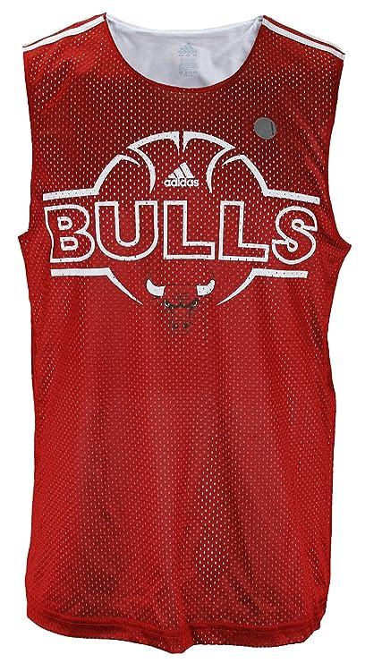 9d2406c5d332 Amazon.com   adidas Chicago Bulls NBA Men s Hoops Tank - Red ...
