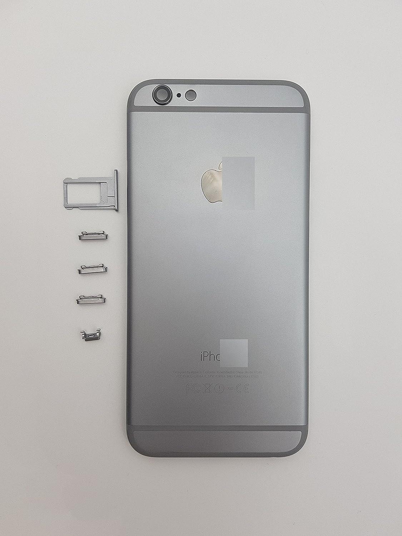 Kleber Red Ship Geh/äuse passend f/ür iPhone 6 Spacegrau Backcover Akkudeckel Rahmen mit Tasten