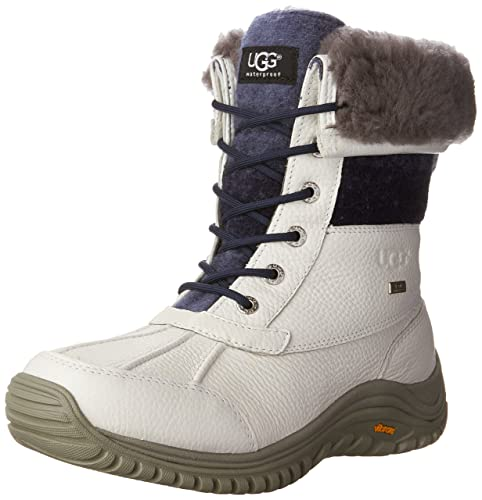UGG Adirondack II Women's Waterproof Lace Up Boots (05.5, White)