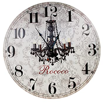 Énorme xXL maxi horloge murale baroque rococo/motif : lustre ...