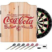 Trademark Gameroom 5 Cents Coca Cola Dart clóset con Dardos y Tablero