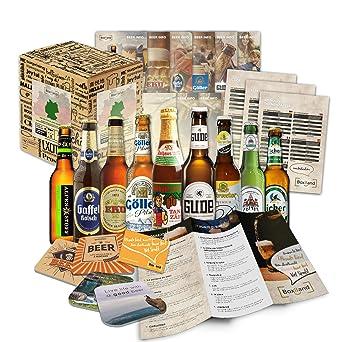 Paquete de 9 especialidades de cerveza de Alemania (las mejores cervezas alemanas)como un juicio a la caja de ingift regalo (selección de cerveza de ...