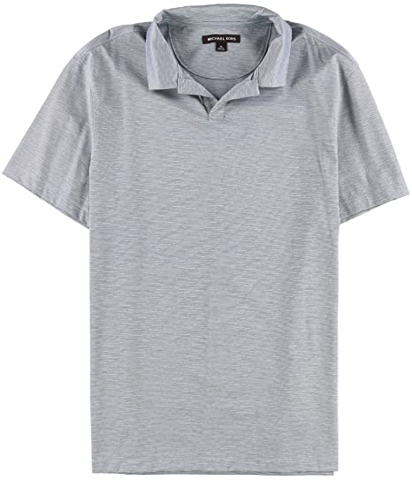 0c1b1830 Michael Kors Mens Lined Rugby Polo Shirt Blue XL at Amazon Men's ...