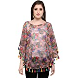 Chakudee Women's Tunic Short Top For Jeans Plain Diamond Creap Top For Daily wear Stylish Casual and Western Wear Women/Girls Top