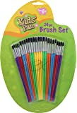 Kids' Fun Brush Set 24 PC Use for All Paints Ages 6 to Adult by Nicole