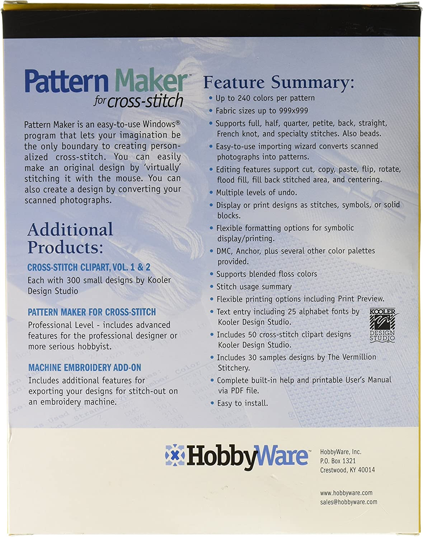 Hobbyware Muster Maker Cross Stitch Software Standard Version-Version 4.0