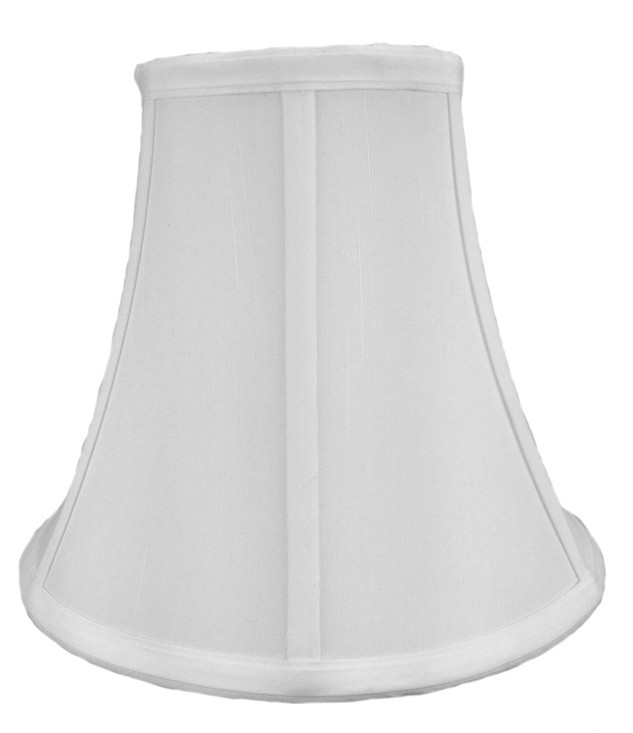 HomeConcept 051008BLWH Bell Shantung Lampshade by Home Concept, 5'' x 10'' x 8'', White