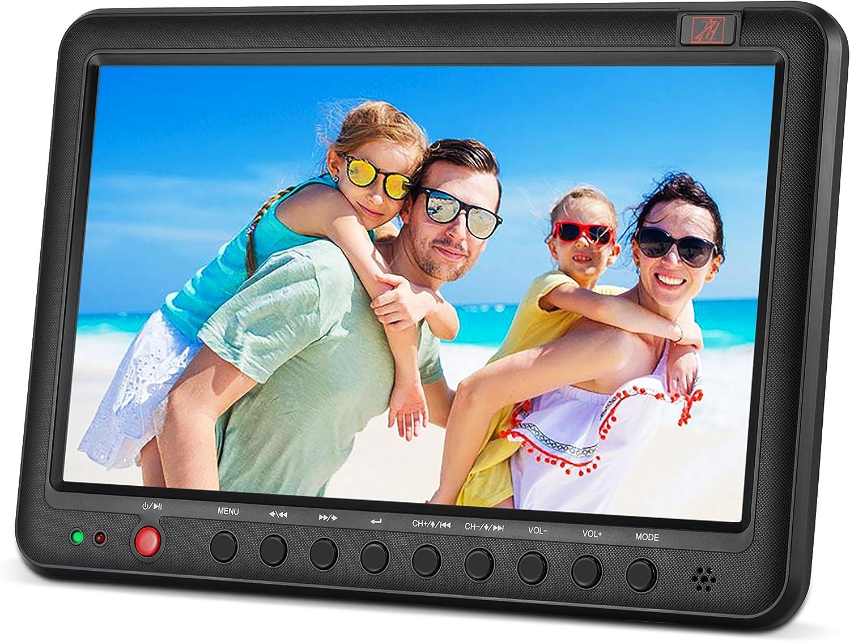 Televisión Portátil con Freeview DVB-T2/DVB-T 10,1 eingebauten batería de iones de litio de pequeña pantalla digital LCD: Amazon.es: Electrónica