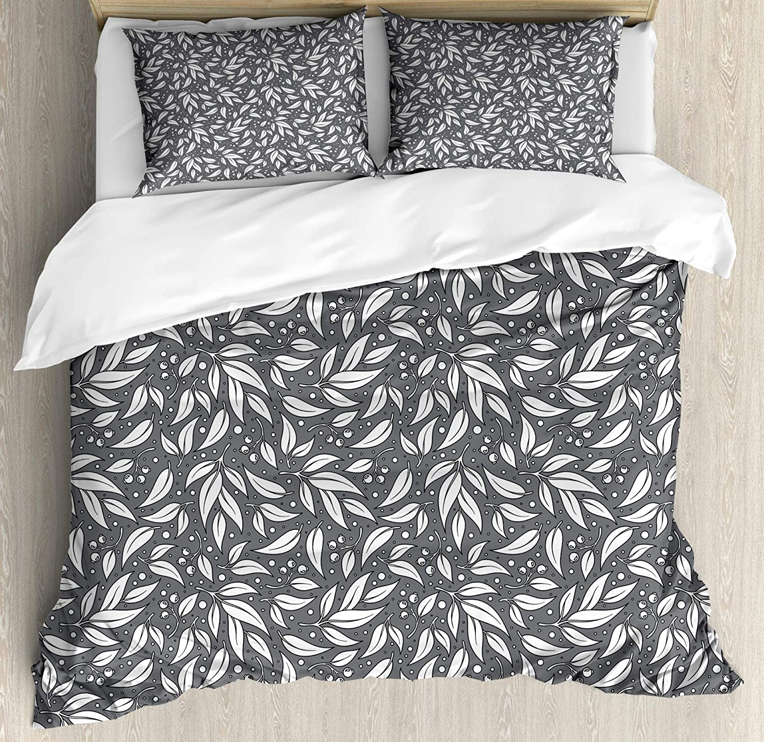 White and Black nev/_53642/_queen Togetherness of Opposite Sides Oriental Ancient Motifs Philosophical Figures Lunarable Yin Yang Duvet Cover Set Queen Size Decorative 3 Piece Bedding Set with 2 Pillow Shams