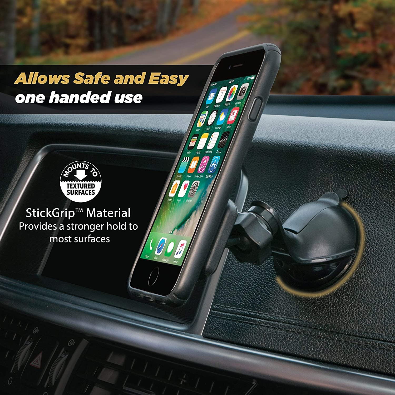 Home or Office Scosche® SCOSCHE MAGWSM-XTSP1 MagicMount Universal Magnetic Phone//GPS Suction Cup Mount for The Car