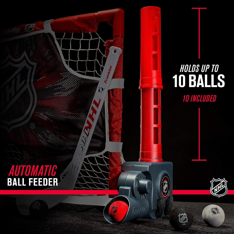 Franklin Sports Knee Hockey Goal Set - Mini Hockey Stick Set - Automatic Ball Passer, Goal & Target Set - Kids Hockey Set - NHL Licensed : Sports & Outdoors