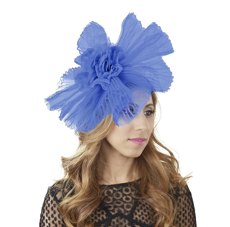 Gorgeous Gaafaru Ascot Derby Fascinator, con con con cappello, fascia per capelli, disponibile in 30 Coloreeei Royal blu be8ea4