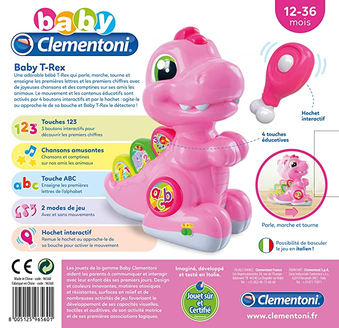 Et T Clementoni Baby Rose96560MulticoloreJeux Rex hCsQrdt