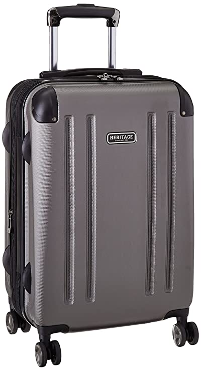 """Heritage Travelware O'Hare 20"""" Hardside Expandable 8-Wheel Spinner Carry-on Luggage"""