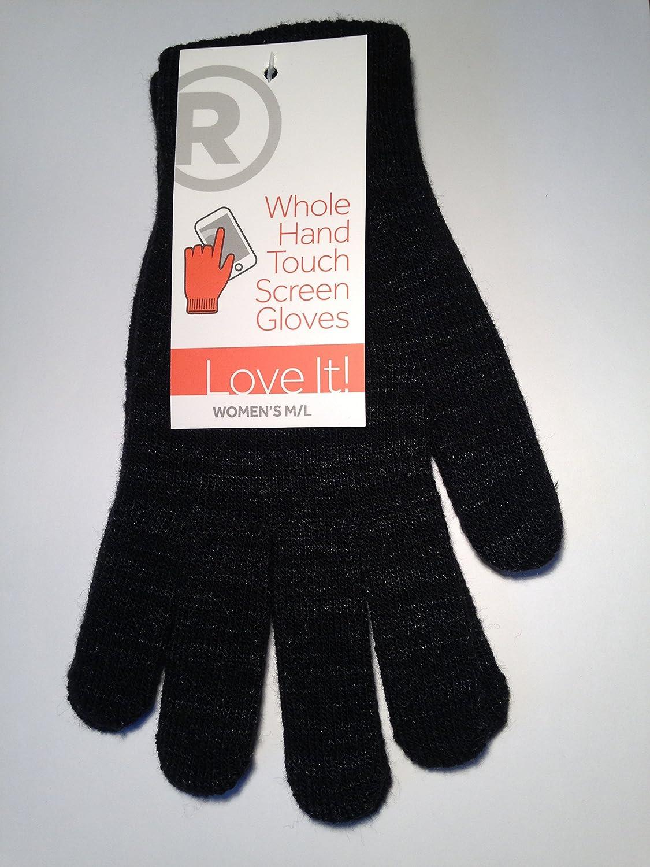 Radio Shack Women's Whole Hand Touch Screen Gloves (Black, M/L) by Radio Shack B00QAXYM50
