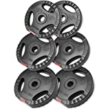 Gorilla Sports 2x 5KG 2x 2.5KG 2x 1.25KG Vinyl Tri Grip Weight Plates