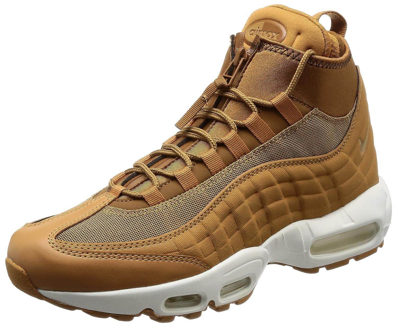 Nike Herren Air Max 95 Braun Leder/Textil Sneakerboot  9 US|Braun (Flax/Ale Brown-Sail)