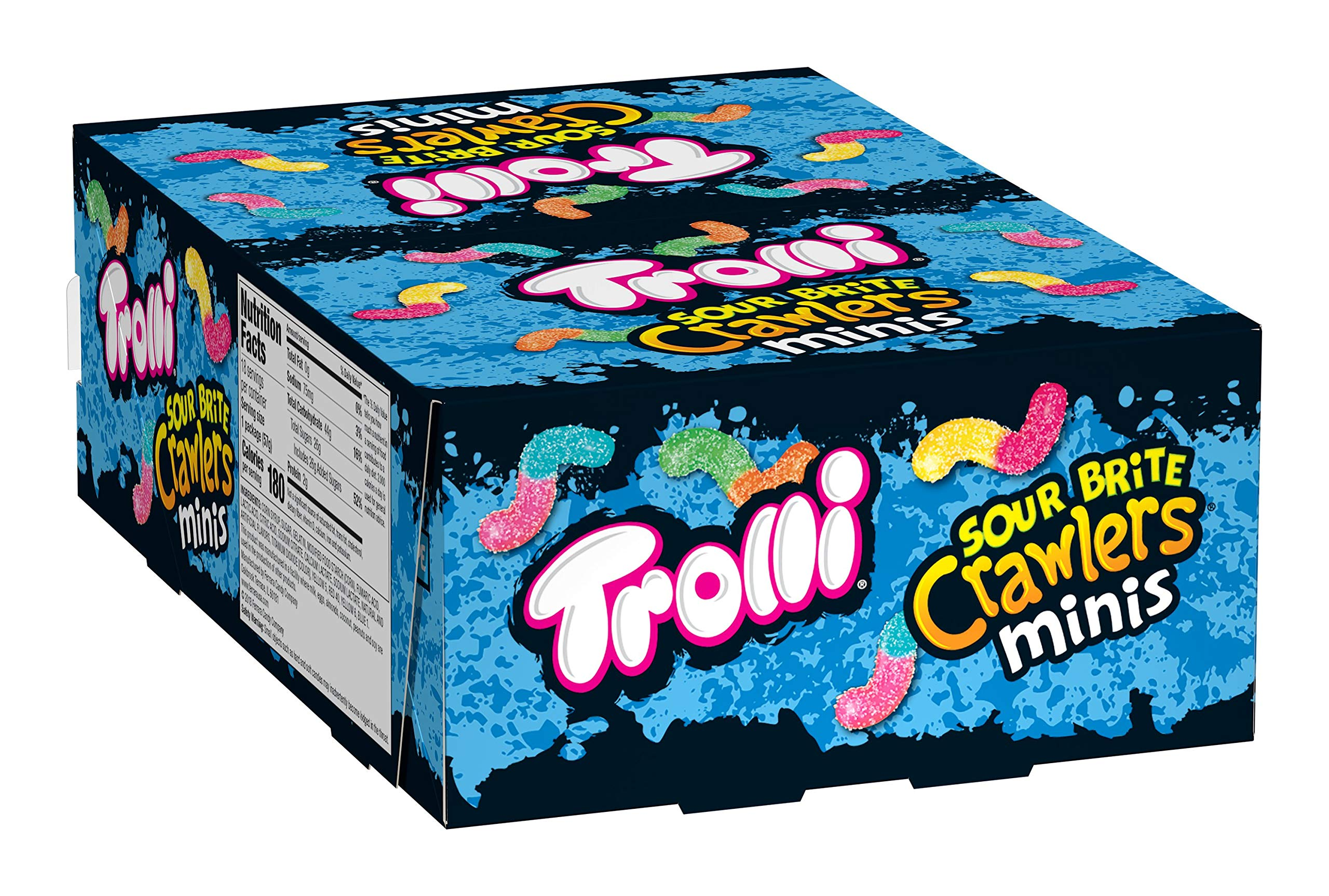 Trolli Sour Brite Mini Crawlers Gummy Worms, 2 Ounce Bag (Pack of 18) Sour Gummy Worms by Trolli (Image #4)