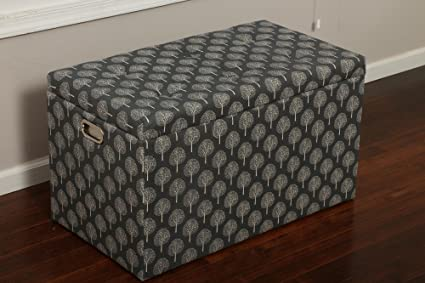 Beau Oliver And Smith   5 Pc Cloth Storage Ottoman With Stools   3 Ottomans U0026 2