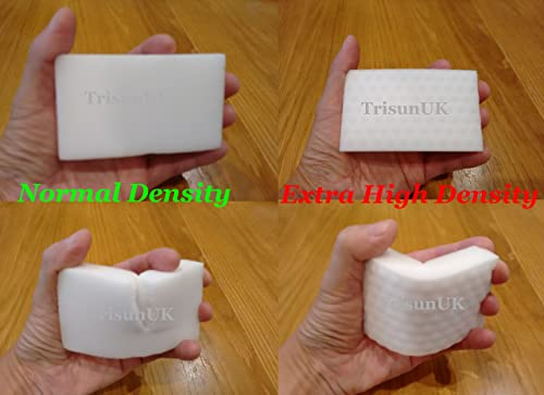 10 Packs of Extra High Density Magic Sponge Eraser Extra Power Cleaning Sponge For Chemical Free Stain and Mark Removal by TrisunUK