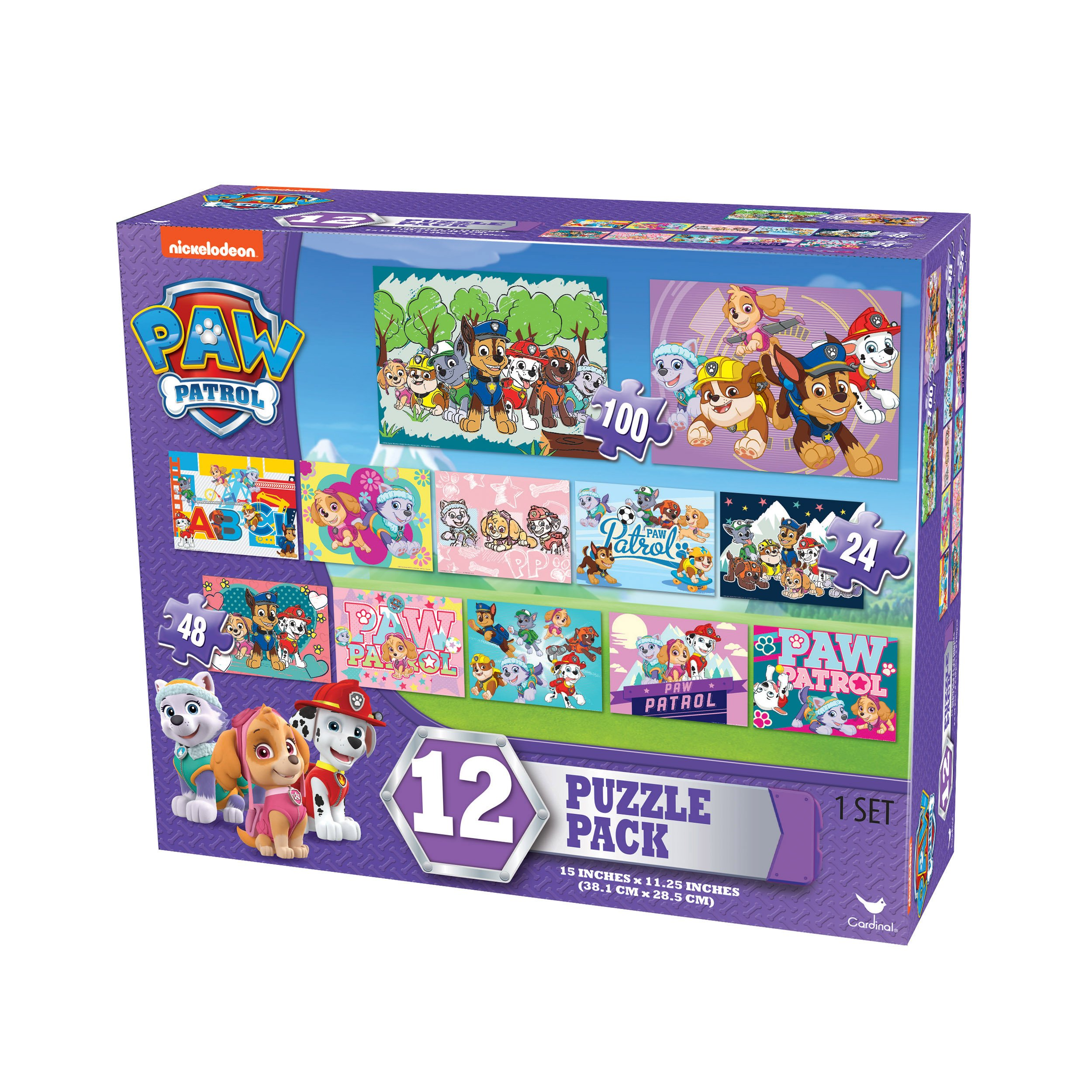 Nickelodeon Paw Patrol Girls 12 Puzzle Pack (24 Pieces)