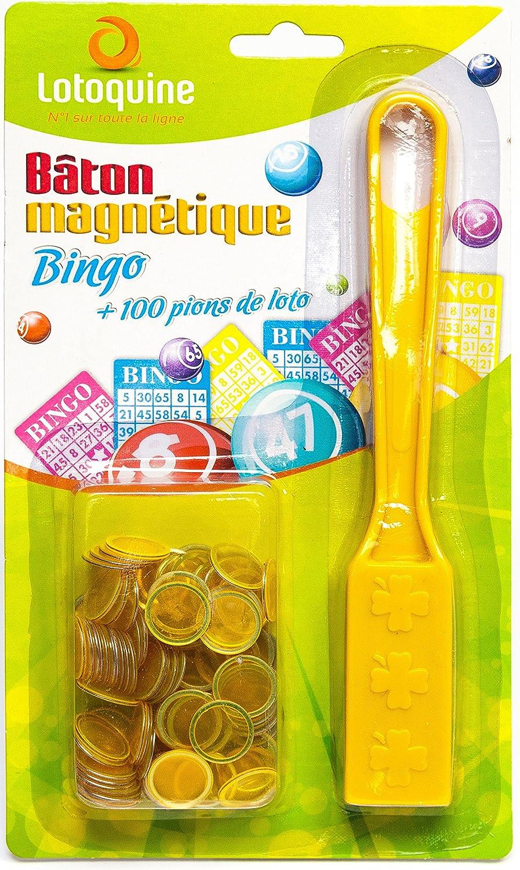 5 Sets in Rot Yuanhe Bingo Magnetstab mit 100 Chips Gelb Violett und Blau Gr/ün