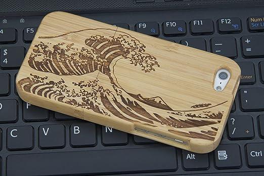 146 opinioni per eimo (TM)- Cover rigida in legno naturale di bambù, realizzata a mano, per