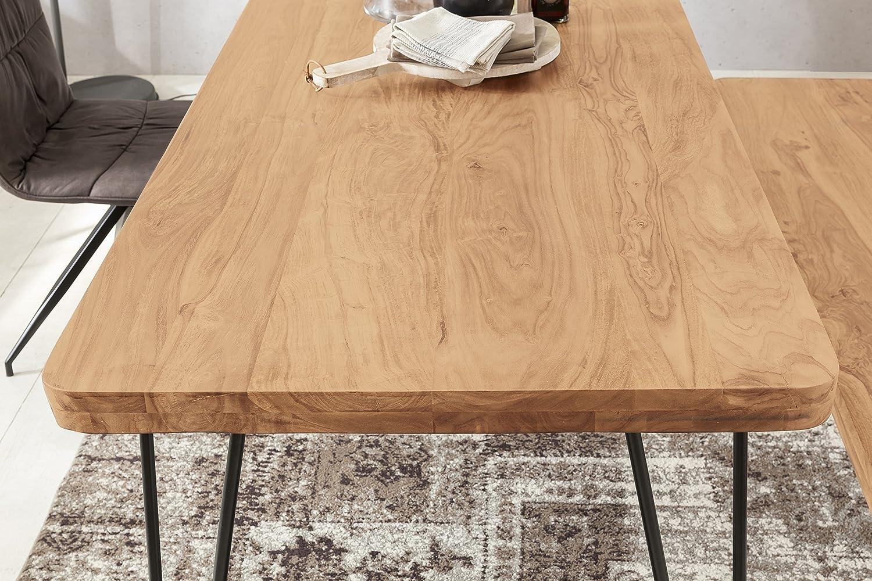 13Casa Calipso J01 Tavolo, Legno massello, Metallo, 180 x 80 x 76 cm