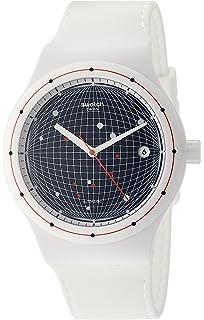 Swatch Sistem 51 Sistem Planet Blue Dial Silicone Strap Unisex Watch SUTW404