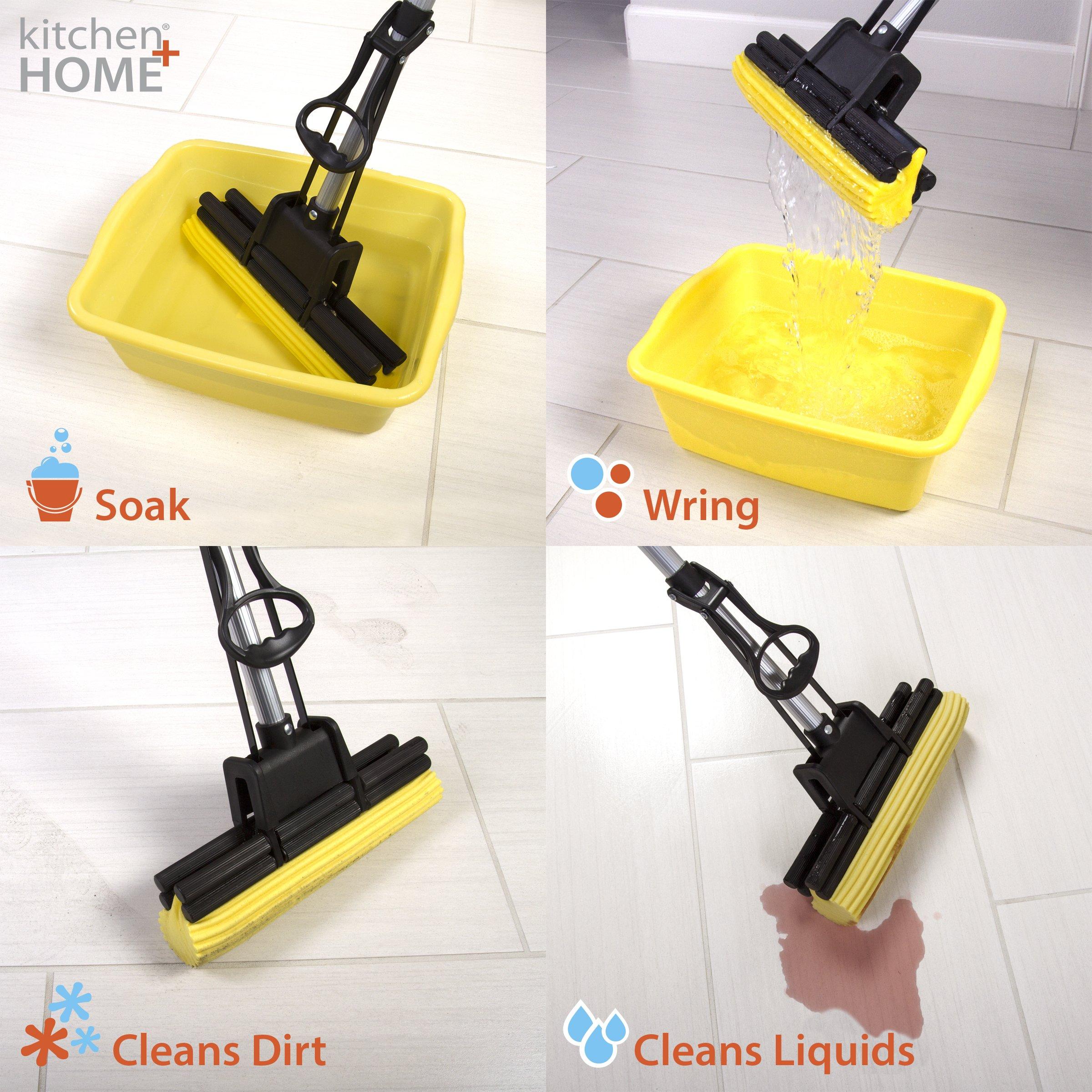 Super Absorbent Professional Double Roller Sponge Foam Mop by PVA Mop (Image #3)