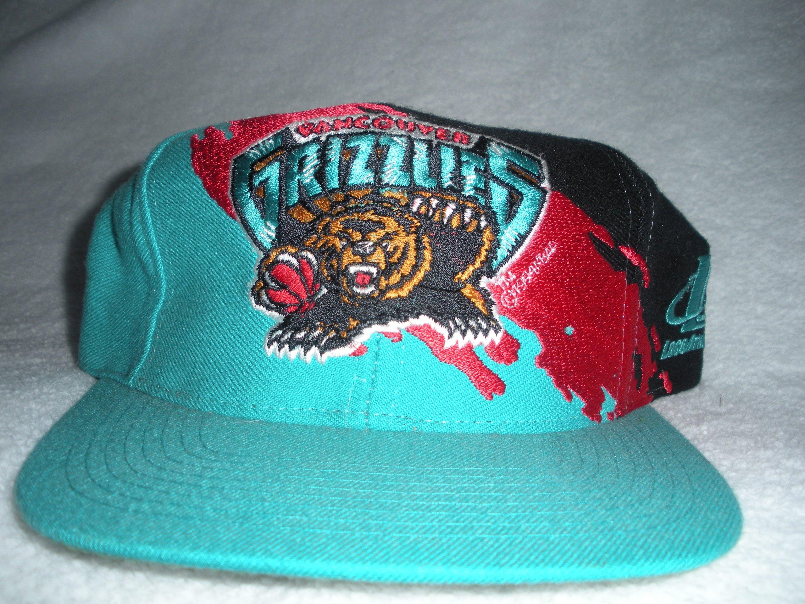 Vancouver Grizzlies Vintage Paintsplash Snapback Hat