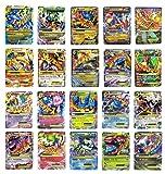 Pokemon EX 20Karten Gold Serie alle Mega: Blau Dragon/Red Dragon, Rayquaza, Gengar, LUCARIO alle Mega EX (Set mit 10spezielle seltene EX Karten)