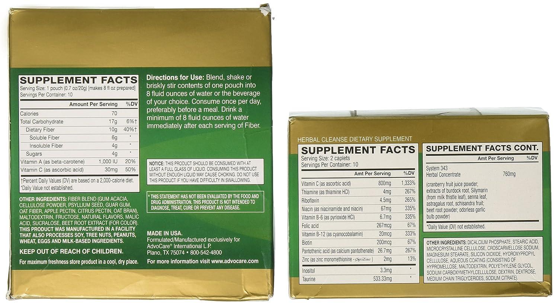 AdvoCare Herbal Cleanse & Fiber CITRUS (kit)   Herbal Cleanse 20 Capsules &  Fiber 10 Pouches