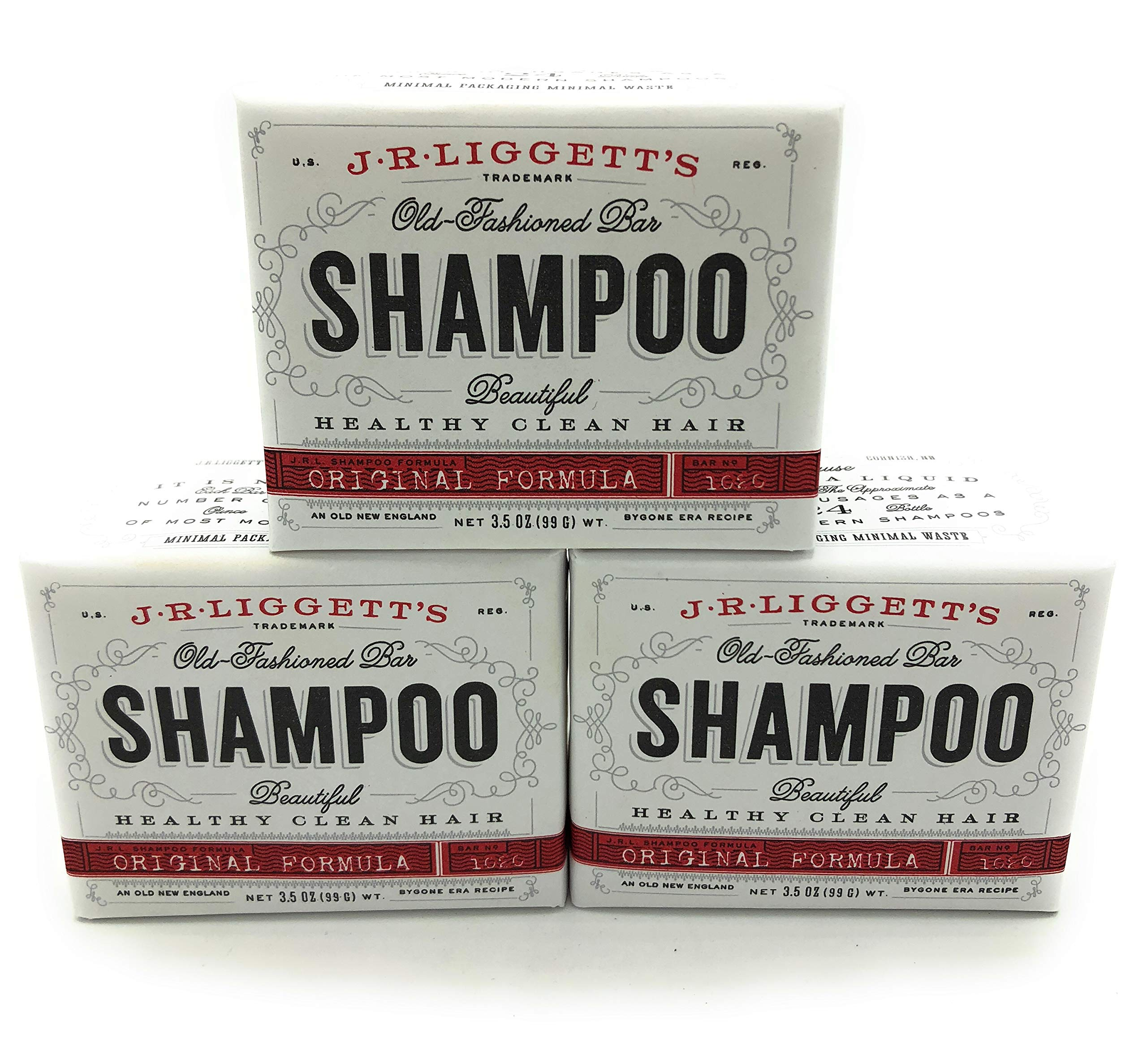 J.R. Liggett's Shampoo-Original Old-Fashioned Bar - 3.5 Ounce (Pack of 3)