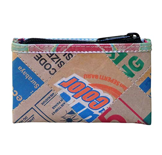 50d3377bc291 Amazon.com  Zip coin purse using recycled cardboard - FREE SHIPPING ...