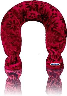 Cuello bolsa de agua caliente funda de velour de colour morado