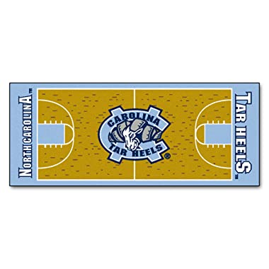 FANMATS NCAA UNC University of North Carolina - Chapel Hill Tar Heels Nylon Face Basketball Court Runner