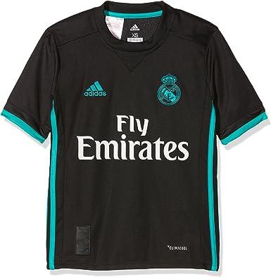 adidas Real Away Jersey - Camiseta 2ª Equipación Real Madrid 2017-2018 Niños: Amazon.es: Ropa y accesorios