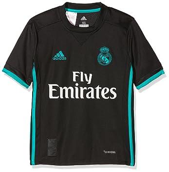 Adidas Real Madrid Camiseta de Equipación, Niños, Negro (arraer), 128-